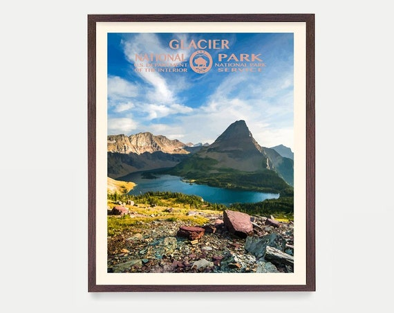 Glacier National Park Poster - Glacier National Park Poster - National Park Art - WPA Poster  WPA Art - Rocky Mountains - Montana Poster