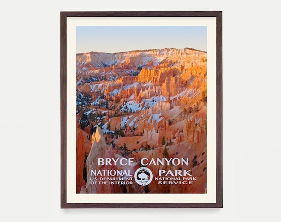 Bryce Canyon National Park Poster, Bryce Canyon Poster, Bryce Canyon National Park Art, National Park Poster, WPA Poster, WPA Art Utah