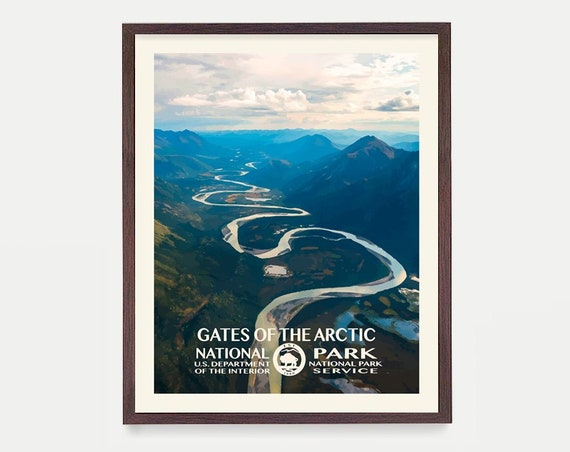 Gates of the Arctic National Park - Alaska Poster -  National Park Art - National Park Poster - WPA - WPA Poster  WPA Art - Alaska Art -