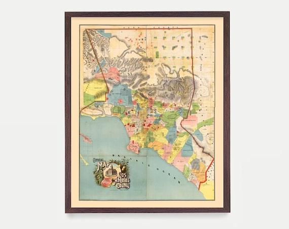 Los Angeles Map - LA Map Art - Map Decor - California Map - Los Angeles Art - Los Angeles Decor - Los Angeles Wall Art - Los Angeles -