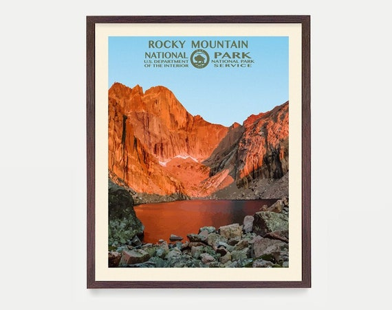 Rocky Mountain National Park Poster, Rocky Mountain National Park, National Park Art, WPA, WPA Poster, WPA Art, Rocky Mountains Gift, Nature