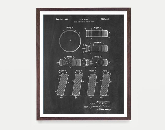 Hockey Puck Patent, Hockey Art Print, Hockey Puck, Hockey Patent, Hockey Art, Hockey Decor, Hockey Patent Art, Ice Hockey, Hockey Poster