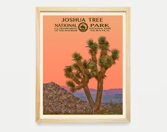 Joshua Tree National Park Poster- Joshua Tree National Park - National Park Art - WPA - WPA Poster  WPA Art - Joshua Tree Art - Desert Art