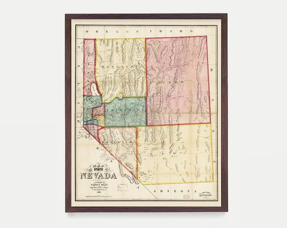 Nevada Map, NV Map, Map Art, Map Decor, State Map, Nevada Art, Nevada Decor, Nevada Wall Art, Las Vegas Map, City Map, Nevada Poster