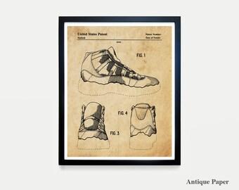 d153795956bd Nike Air Jordan 11 - Nike Shoes - Nike Sneakers - Air Jordans - Air Jordan  Patent - Nike Patent - Nike Poster - Nike Art - Sneaker Art