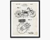 Indian Motorcycle Patent, Indian Motorcycle Art Indian Motorcycle Poster, Motorcycle Patent, Motorcycle Art, Motorcycle Gift, Vintage Biker