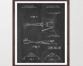 Star Trek Patent Poster - Star Trek Klingon Bird of Prey - Klingon Patent - Spock - Star Trek Art - Star Trek Wall Art - Star Trek Decor