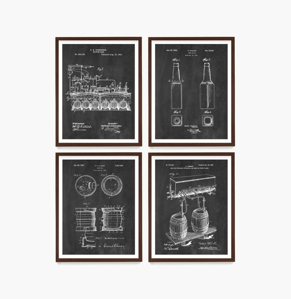 Beer Art, Beer Patent Art, Beer Brewing, Beer Poster, Beer Gift, Beer Wall Art, Beer  Keg Patent Print, Beer Brewing Poster, Home Brewing