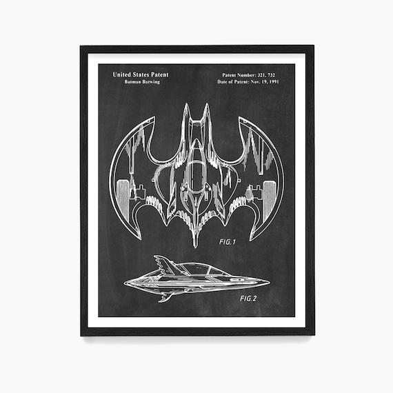 Superhero Patent Print, Superhero Wall Art, Superhero Poster, Boys Room Poster, Comic Book Wall Art
