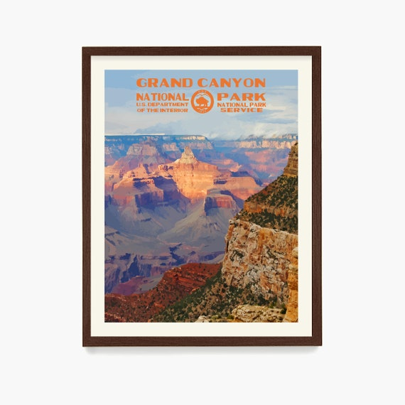 Grand Canyon National Park Poster, Grand Canyon Art, National Park Gift, WPA Poster, Grand Canyon Decor, Nature Wall Art, Park Print