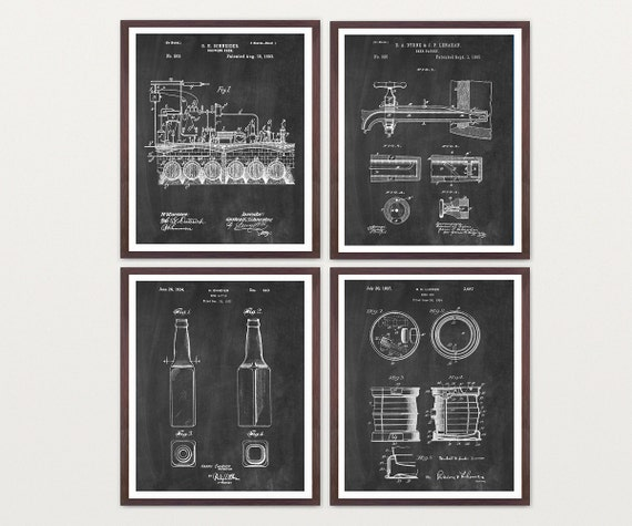 Beer - Inventions of Beer - Beer Patent - Beer Brewing - Beer Poster - Beer Art - Beer Wall Art - Beer Patent Print - Beer Brewing Poster