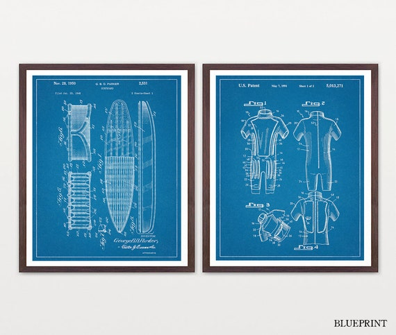 Inventions of Surfing - Surfing Art - Surf Poster - Surf Patent - Surfing Patent - Surfboard - Surfboard Patent Art - SurfingWall Art