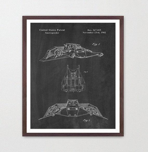 Star Wars - Snowhopper - Star Wars Patent - Star Wars Poster - Star Wars Art - Snowhopper Patent - Star Wars Wall Art - Sci Fi Patent
