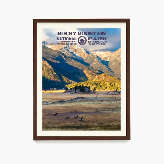 Rocky Mountain National Park Poster, National Park Art, WPA, WPA Poster, WPA Art, Rocky Mountains, Rocky Mountain Wpa, Park Poster, Hiking