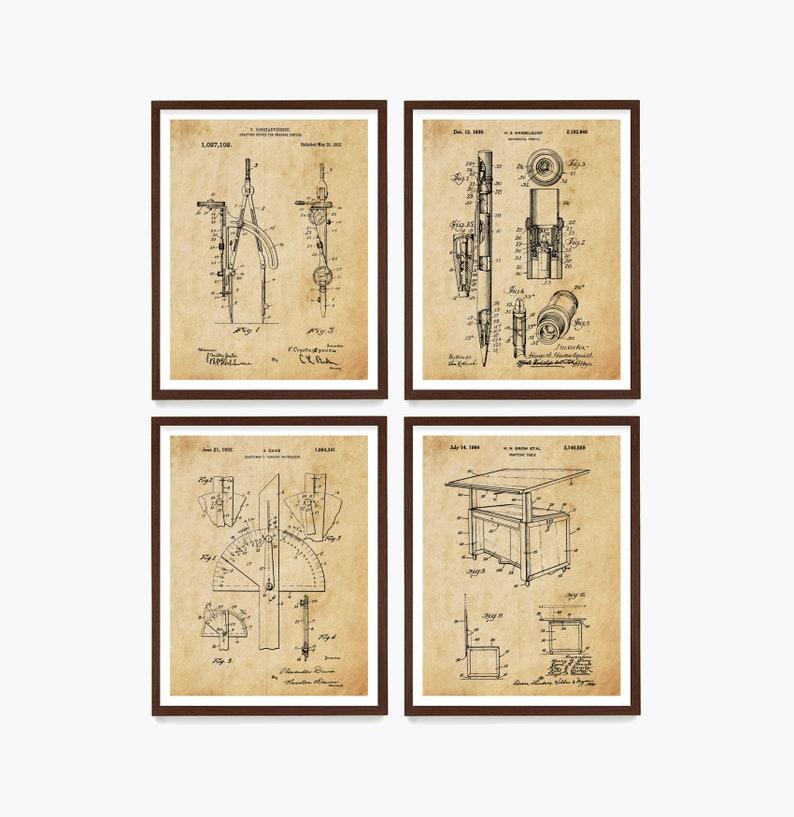 Architecture Tools Patent  Architect Art  Architect Poster  image 0