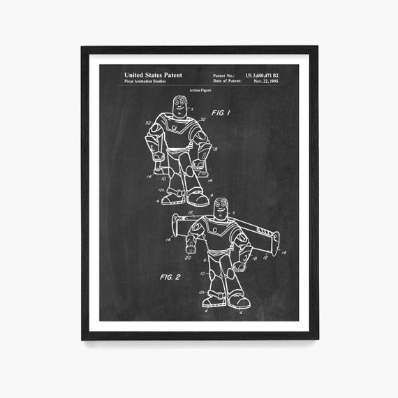Buzz Lightyear Patent, Tory Story Art, Toy Story Poster, Buzz Lightyear Wall Art, Kids Room Art, Kids Room Poster, Nursery Art, Baby