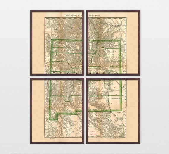 New Mexico Map - Antique Map - Archival Reproduction - New Mexico Art - New Mexico Poster - New Mexico Wall Art - State Map - Old Map  Atlas