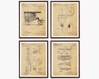 Ambulance Patent Art, Paramedic Patent Poster, Paramedic Art, Medic, Medicine, Doctor, First Aid, Doctor Patent, Ambulance Art, Medic Gift