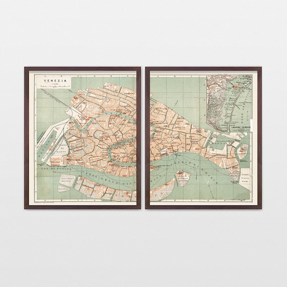 Venice Map - Antique Map - Archival Reproduction - Venice - Italy - Italy Map - Venice Art - Venice Italy - Venice Poster - Italy Poster