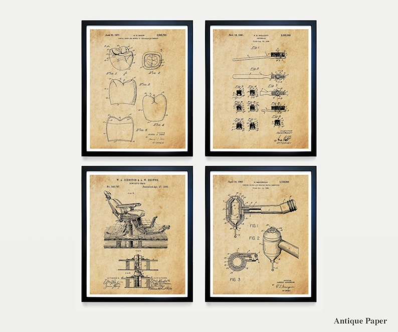 DENTIST PATENT  Dentist Patent Collection  Dentist Chair image 0