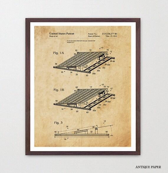 Solar Panel Patent Poster - Solar Panel Art - Solar Power - Green Energy - Renewable Energy Art - Electricity - Solar Art - Solar Poster