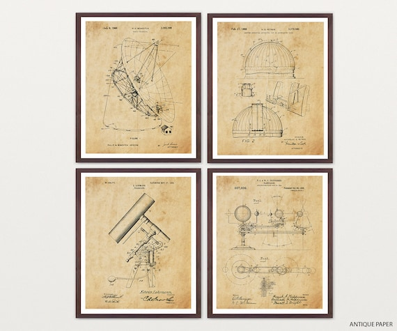 Astronomy Patent Art - Astronomy Poster - Space Patent Posters - NASA Art - NASA Patent - NASA Poster - Space Art - Aliens - Telescope Art
