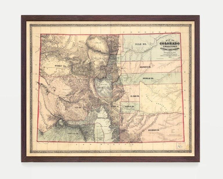 Colorado Map Art.Colorado Map Co Map Map Art Map Decor State Map Colorado