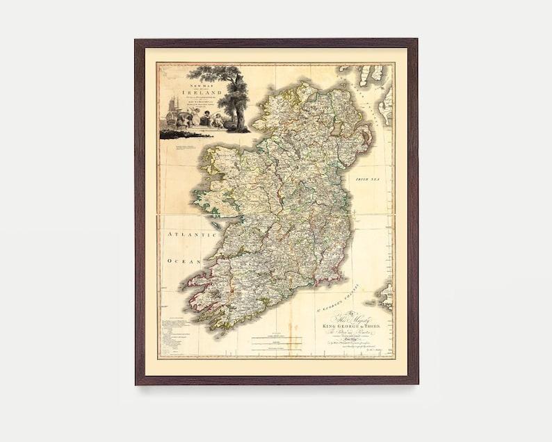 Map Of Ireland Poster.Ireland Map Ireland Ireland Art Map Decor Irish Art Etsy