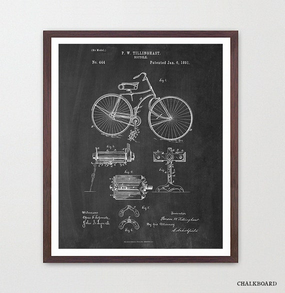 Bicycle Poster - Vintage Bicycles Patent - Bike Poster - Bike Art - Bicycle Print - Bicycle Wall Art - Cycling Art - Bike Patent - Cyclist
