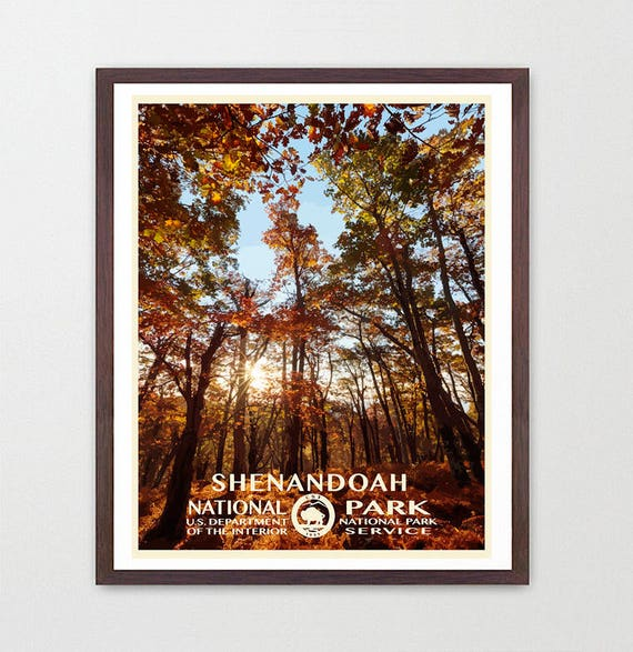 Shenandoah National Park - Shenandoah National Park Poster - National Park Art - WPA  WPA Poster  WPA Art - Appalachian Trail - Virginia Art