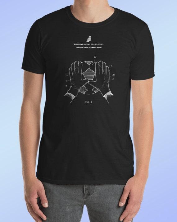 Soccer T-shirt - Patent T-shirt - Soccer Patent - Mens T-shirt - Mens Clothing - Soccer Shirt - Soccer Ball - World Cup - World Cup T-shirt