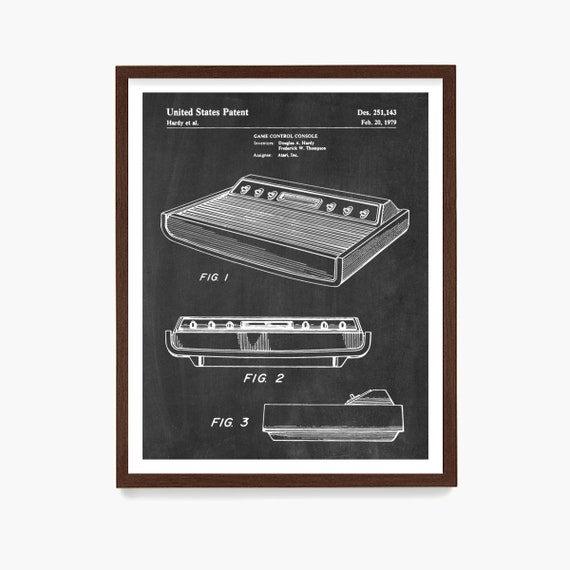 Video Game Patent Poster, Atari Console Patent, Gamer Wall Art, Video Game Gift, Kids Room Decor, Game Room Art
