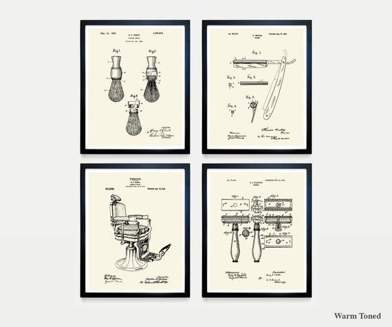 Swell Shaving Patent Art Straight Razor Barber Chair Razor Razor Patent Shaving Art Bathroom Art Bathroom Patent Mens Bathroom Machost Co Dining Chair Design Ideas Machostcouk