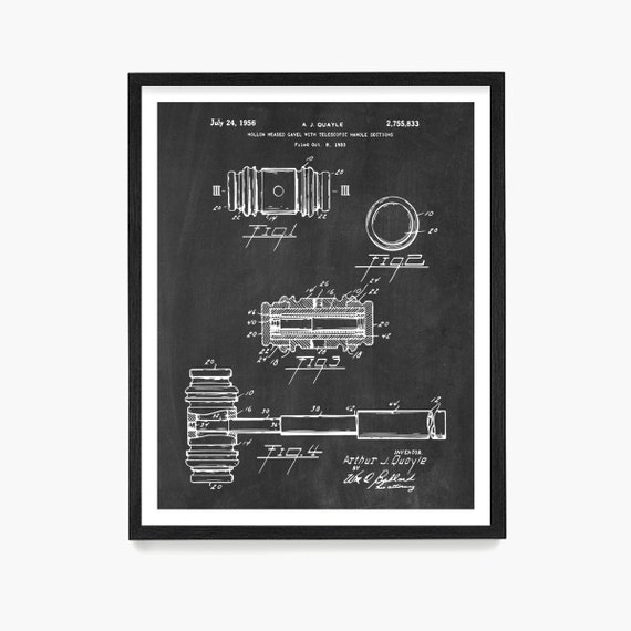 Gavel Patent Print, Law Poster, Law Office Wall Art, Lawyer Art, Law School Gift, Judge, Law School, Lawyer Gift, Attorney Gift