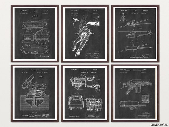 Military Patent Posters - Military Art - Military Wall Art - Armed Forces - US Army - Air Force - Navy - Military Poster - Military Decor