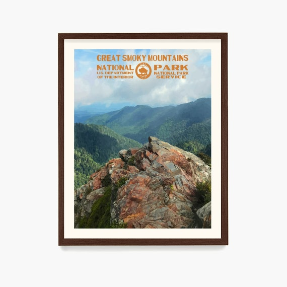 Great Smoky Mountains National Park Poster, National Park Art, WPA Poster, WPA Wall Art, Smoky Mountains Gift, National Park Gift
