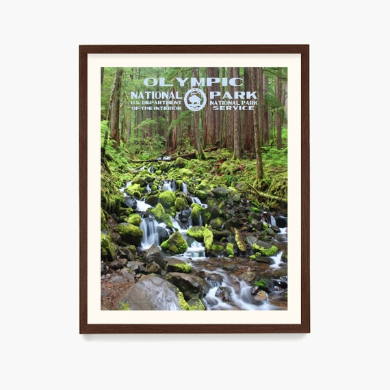Olympic National Park Poster, National Park Wall Art, WPA Poster, WPA Art, Washington State Art, National Park Gift