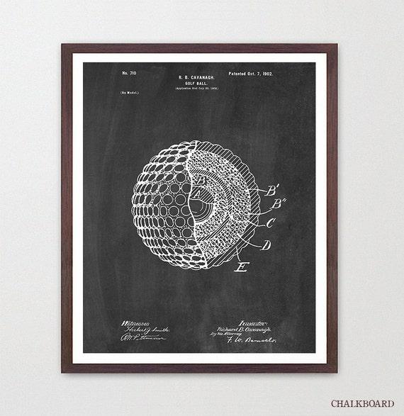 Golf Poster - Golf Ball Poster - Golf Art - Golf Patent Art - Golf Gift - Patent Poster - Golfer - Golf Wall Art - Golf Decor - Dad Gift