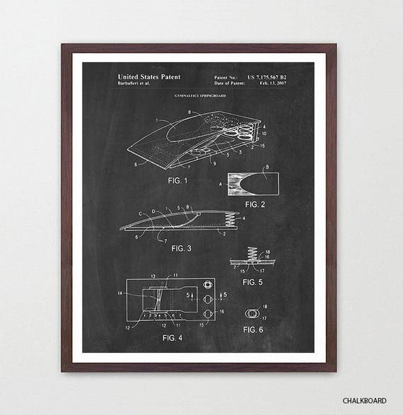 Gymnastics Patent Art - Gymnastics Poster - Gymnast - Gymnast Poster - Gymnast Patent - Olympics - Pommel Horse - Parallel Bars -