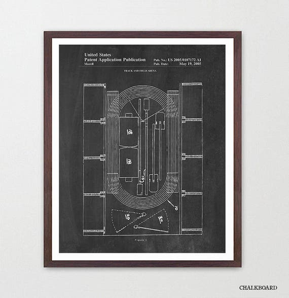 Track Patent Poster, Track and Field Patent, Running, Running Patent, Track Patent, Track Art, Track Poster, Sprinter, Running Art, Runner