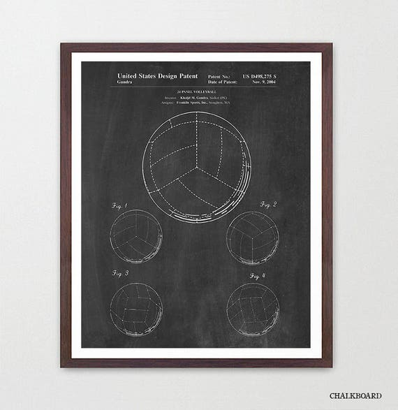 Volleyball Patent Art - Volleyball Poster - Volleyball Art - Volleyball Patent Print - Olympics - Olympics Poster - Volleyball Wall Art