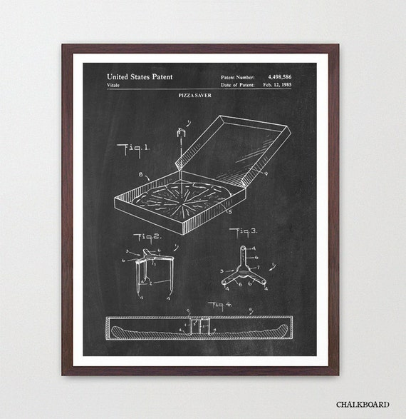 Pizza Patent Art - Pizza Poster - Pizza Box - Pizza Wall Art - Pizza Art - Pizza Decor - Pizza Print - Kitchen Art - Kitchen Poster  Italian