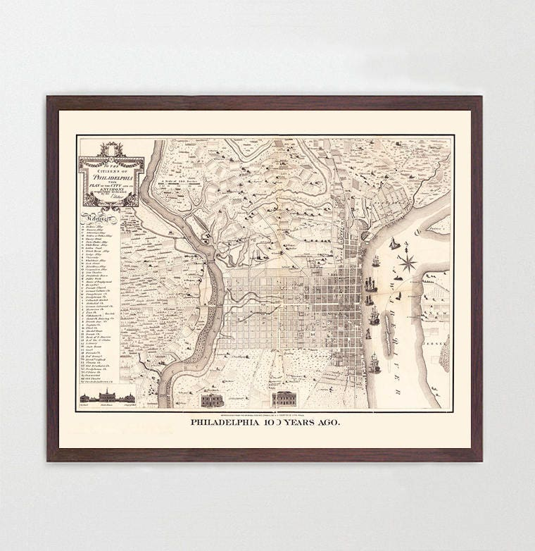 This is an image of Printable Map of Philadelphia intended for center city