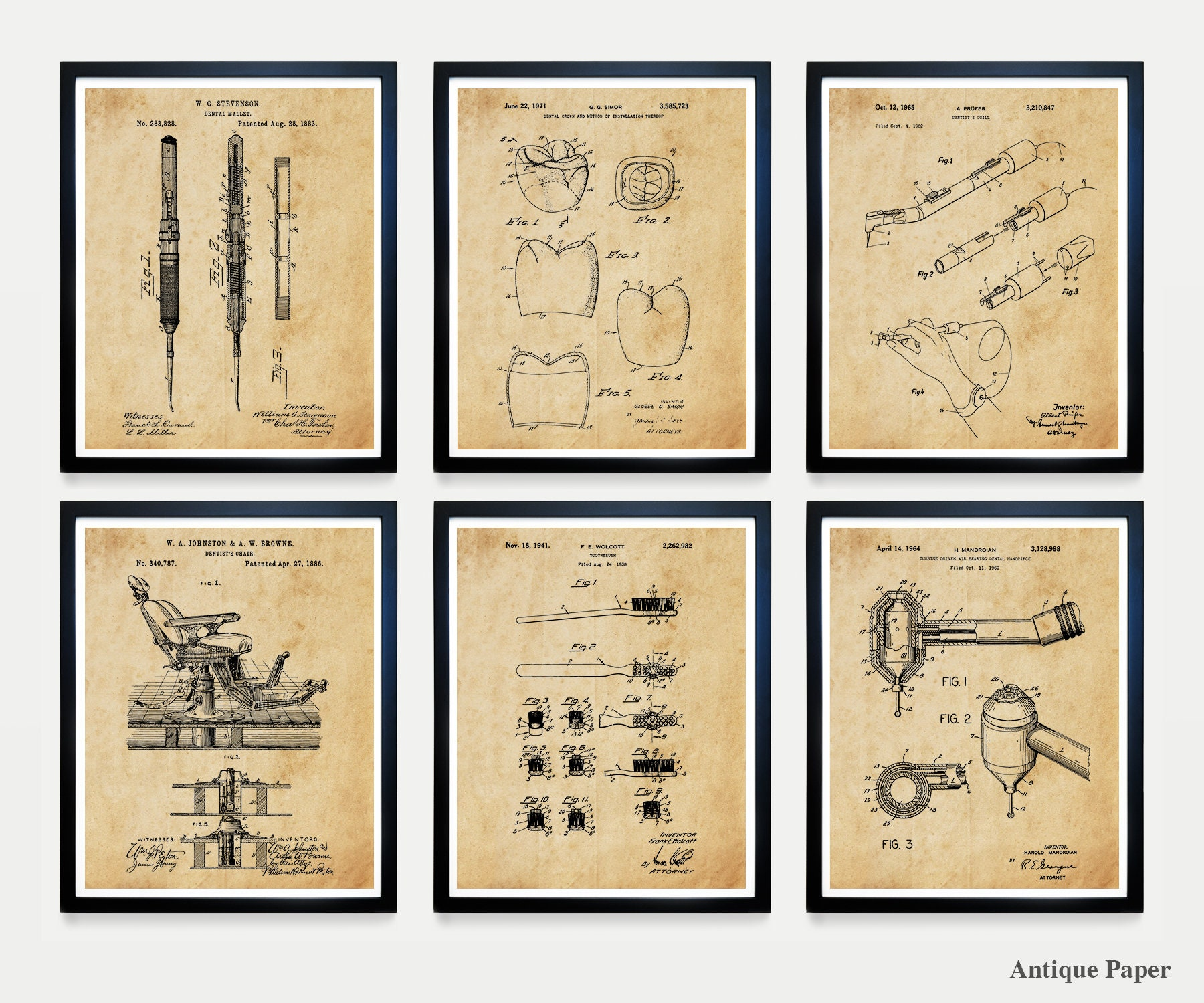 Dentist Patent Art - Dentist Poster - Dentist Wall Art - Dentist ...