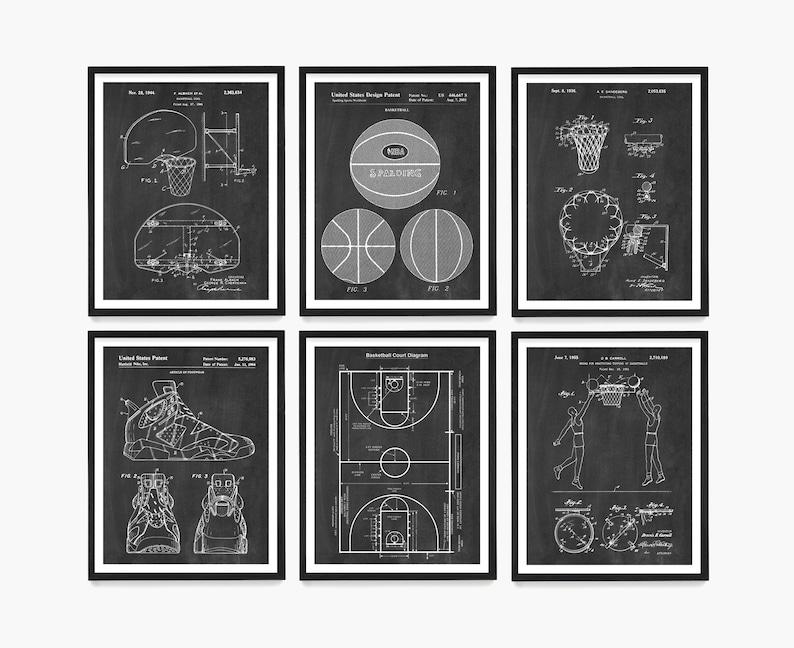 Basketball Patent Art Basketball Wall Art Basketball Poster image 0