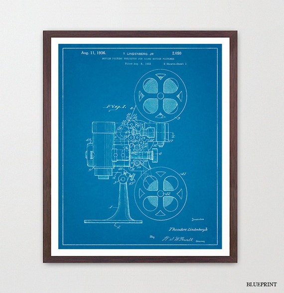Film Projector - Movie Projector Patent - Film Art - Cinema Poster - Movie Poster - Cinema Art - Vintage Projector - Movie Art - Film Art