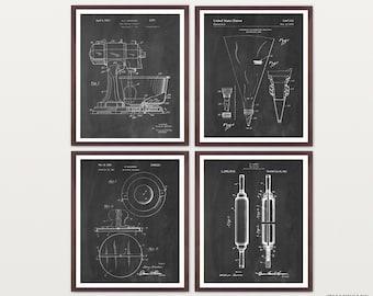 Baking Patent Art - Baking Art - Baking Poster - Kitchen Wall Art - Kitchen Poster -Kitchen Art - Kitchen Aid - Baker - Cooking Art - Desert