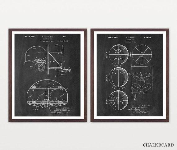 Basketball Wall Art - Basketball Patent Art - Basketball Poster - Basketball Art  - Boys Room Wall Art - Boys Room - Basketball Gift