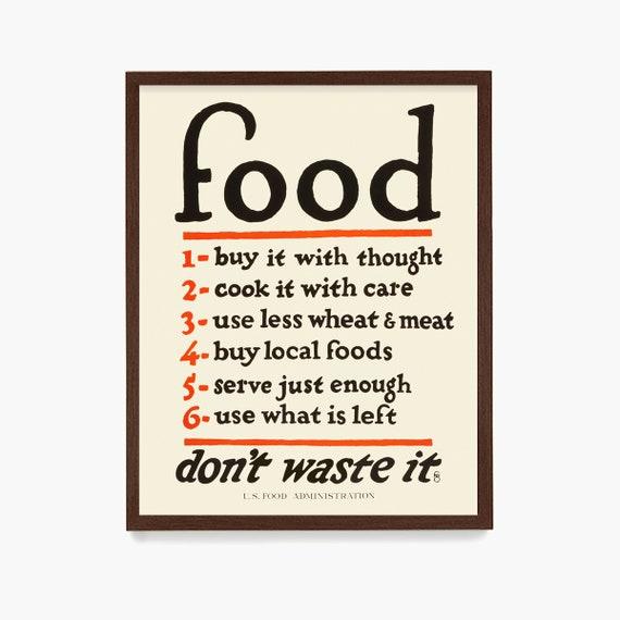 Kitchen Wall Art, WPA Food Poster, Food Art, WPA Poster, Kitchen Poster, Kitchen Decor, Kitchen Print, Minimal Kitchen Art, Housewarming
