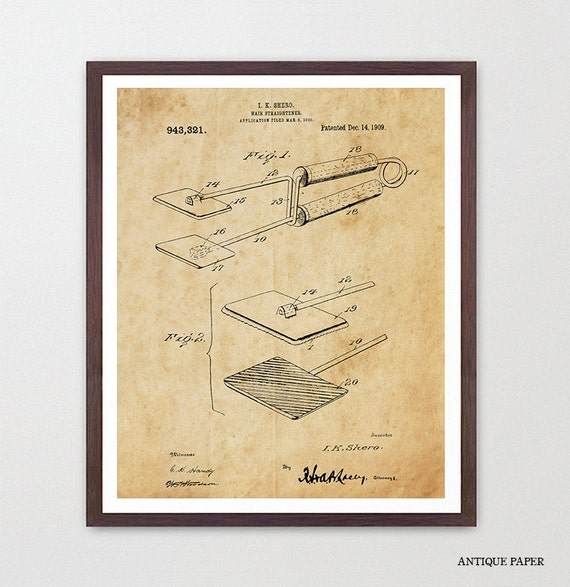 Hair Patent Art - Hair Poster - Hair Salon - Hair Art - Beauty Poster - Bathroom Patent - Patent - Fashion Inspiration - Bathroom Art